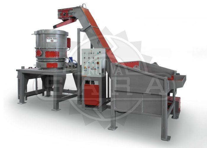 Impianto di centrifugazione truciolo